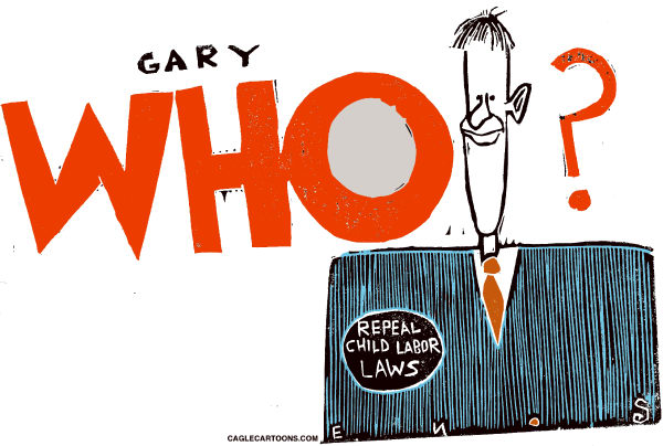 Randall Enos - Cagle Cartoons - Gary Johnson - English - gary johnson,presidential candidate,former governor of New mexico,Libertarian
