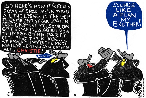 Randall Enos - Cagle Cartoons - CPAC - English - CPAC,romney,perry,palin,conservative political action conference,tea party,GOP