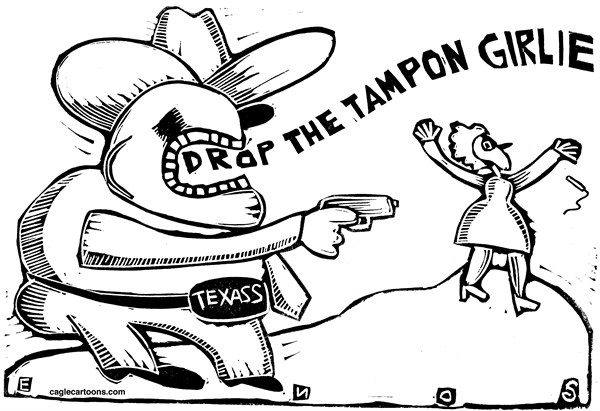 Randall Enos - Cagle Cartoons - Texass - English - Texas,suppression of women,war on women,prejudice toward women
