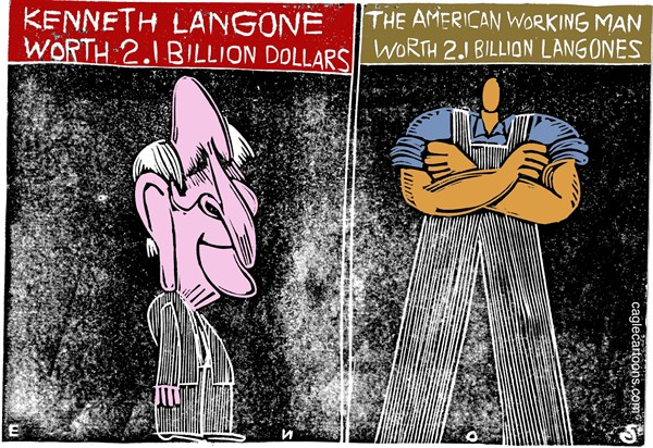 Kenneth Langone © Randall Enos,Cagle Cartoons,kenneth langone,billionaires1,venture capitalist,capitalism,Home Depot