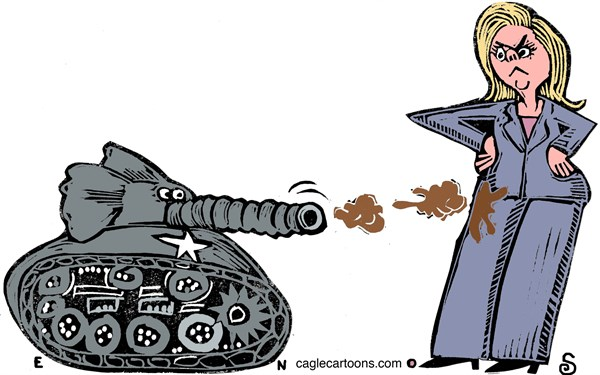 War On Hillary © Randall Enos,Cagle Cartoons,hillary clinton,2016 presidential election,republican candidates,benghazi