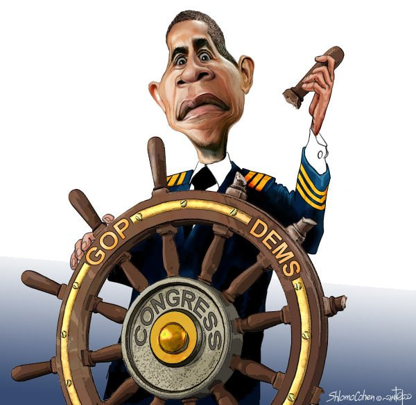 Shlomo Cohen - Israel - The Helmsman - English - democrats lose, dems, gop, gop gains, congress, 2010 elections, helm, helmsman, president obama, barack, midterm elections, republicans victory