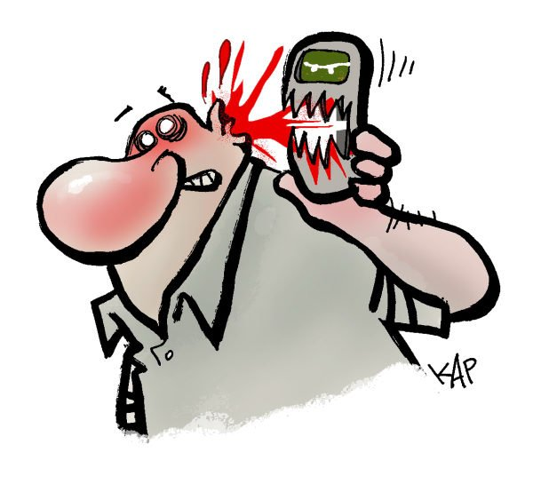 93956 600 Dangerous Cell Phone cartoons