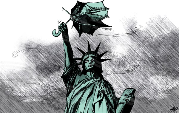 Kap - La Vanguardia, Spain - Sandy in NYC - English - Sandy,storm,nyc,new york,rain,frankenstorm, hurricane
