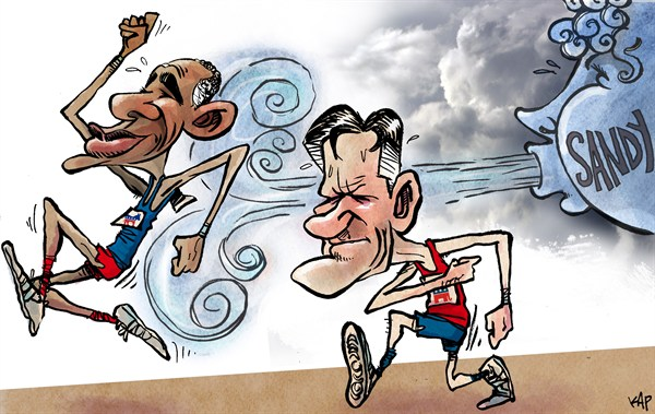 Kap - La Vanguardia, Spain - Marathon to Washington - English - Obama, Romney, elections, sandy, president, whithe house, marathon, election, 2012