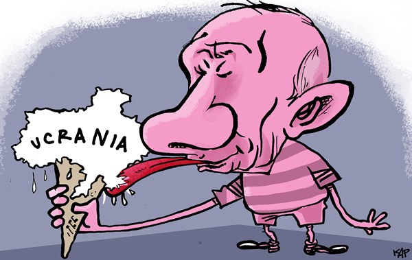 Kap - La Vanguardia, Spain - ice cream war - Spanish - putin, crimea, ucania, rusia, kiev,
