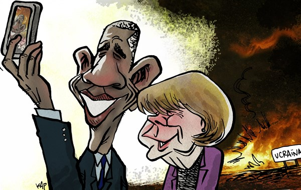 Kap - La Vanguardia, Spain - Selfie - English - ukraine, kiev, russia, eu, obama, merkel, onu, nato, uno,