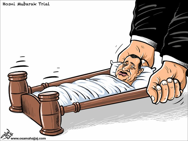 96530 600 Mubarak Trial cartoons