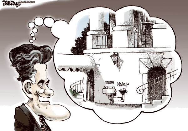 Bill Day - Cagle Cartoons - Mitt's Water Fountains - English - Romney, NAACP, GOP, campaign, waterfountains