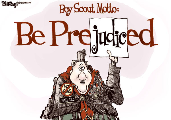 Bill Day - Cagle Cartoons - Boy Scout Motto - English - Boy Scouts, gays, prejudice, Obama