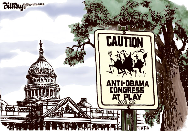 Bill Day - Cagle Cartoons - Congress at Play - English - Congress, anti-Obama, legislation, GOP