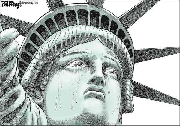 Bill Day - Cagle Cartoons - September 11 - English - september 11, Liberty, 9/11, WTC