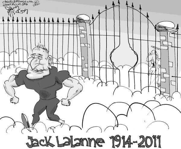 Gary McCoy - Cagle Cartoons - Jack LaLanne Passing - English - Jack LaLanne,Fitness,Fitness Guru,96 Years Old,LaLanne