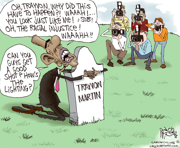 108778 600 Obama Politicizes Trayvons Death cartoons