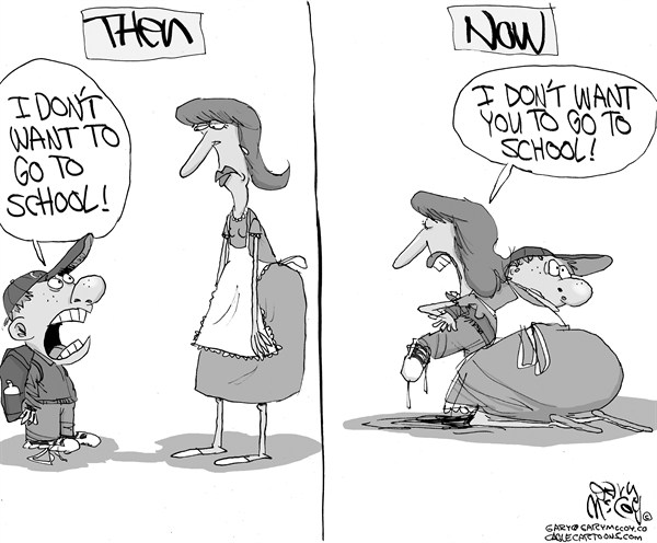 Gary McCoy - Cagle Cartoons - Sandy Hook Shooting - English - Newtown School District,Sandy Hook Elementary School,Adam Lanza,School Shooting,Kindergartners,Bushmaster,2nd Amendment,Children,Parents,School Children,Teachers,Gun Control,NRA,Gun Rights,Semi-automatic AR-15 Assault Rifle,Autistic,Mental Illness