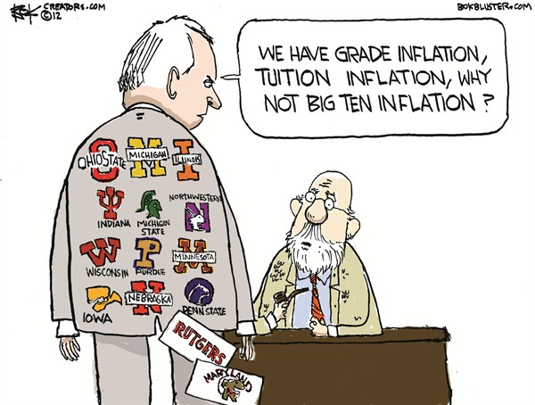 Inflation © Chip Bok,The Akron (Ohio) Beacon Journal,inflation,big ten,tuition