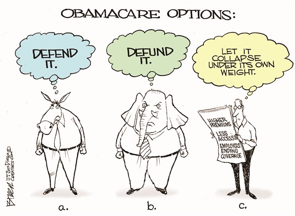 Obamacare Options © Steve Breen,The San Diego Union Tribune,obamacare,options,obama,health,insurance