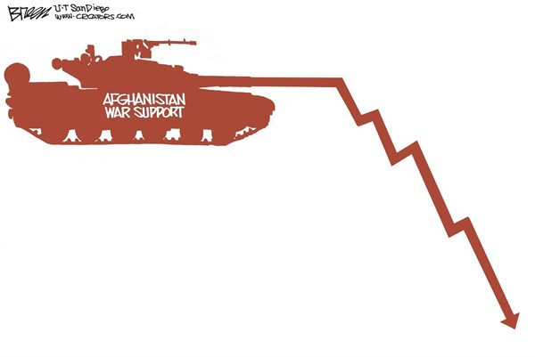 Afghanistan War Support © Steve Breen,The San Diego Union Tribune,war,support,tank,fight,freedom