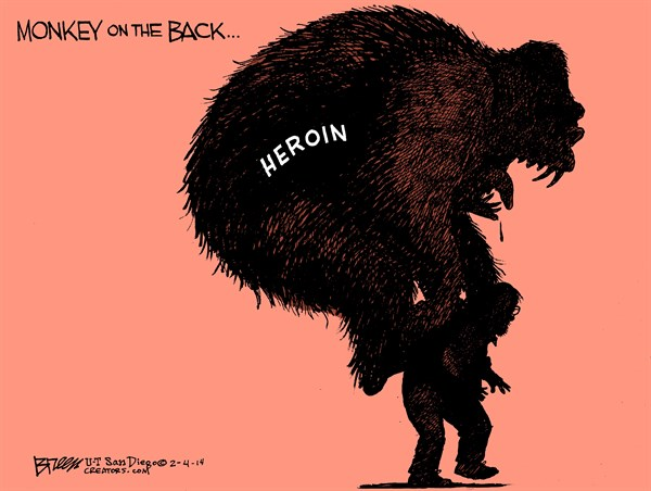 144207 600 Heroin Monkey On The Back cartoons