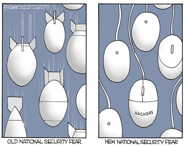 New National Security Fear © Steve Breen,The San Diego Union Tribune,hackers,security,threat,fear,national,computer