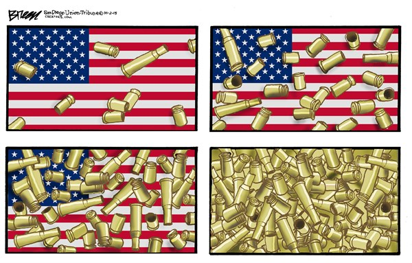 Bullets in America, Steve Breen,The San Diego Union Tribune,guns,school shooting,violence,murder,killing,school,bullets,america,school-shooting
