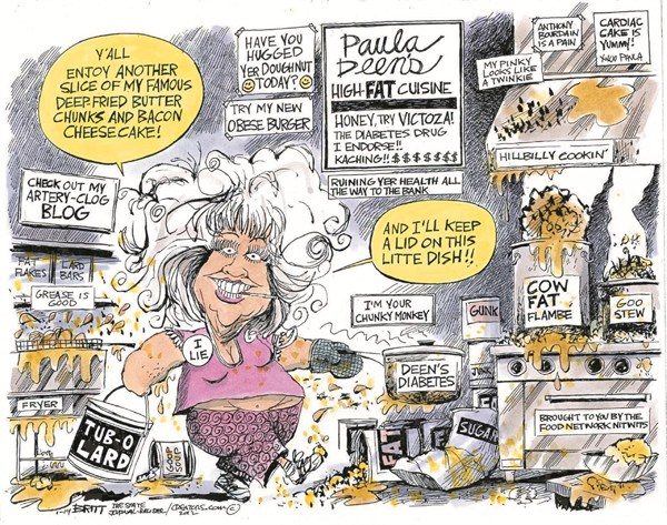 104817 600 Paula Deens High Fat Cuisine cartoons