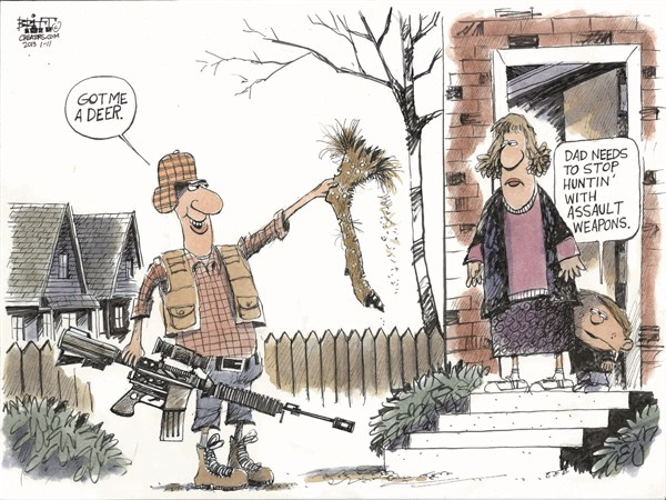 125424 600 Huntin with Assault Weapons cartoons