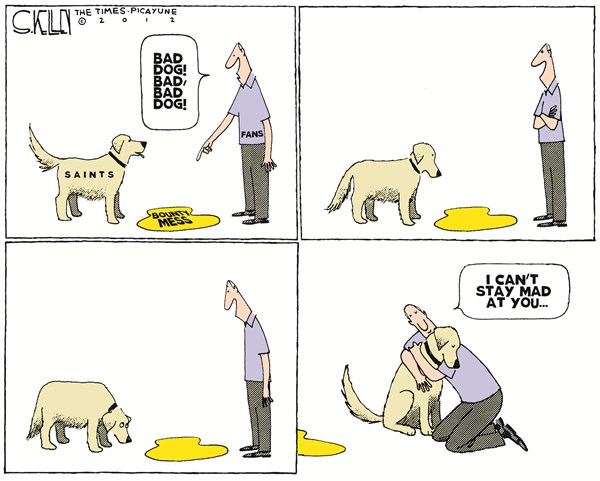 Bounty Mess © Steve kelley,The New Orleans Times, Picayune,bounty,mess,football,sports,players,Saints