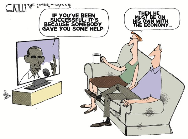 Success © Steve kelley,The New Orleans Times, Picayune,success,obama