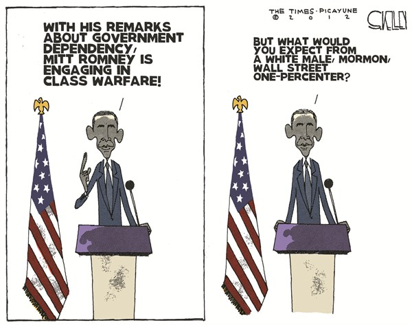 One Percenter © Steve kelley,The New Orleans Times, Picayune,