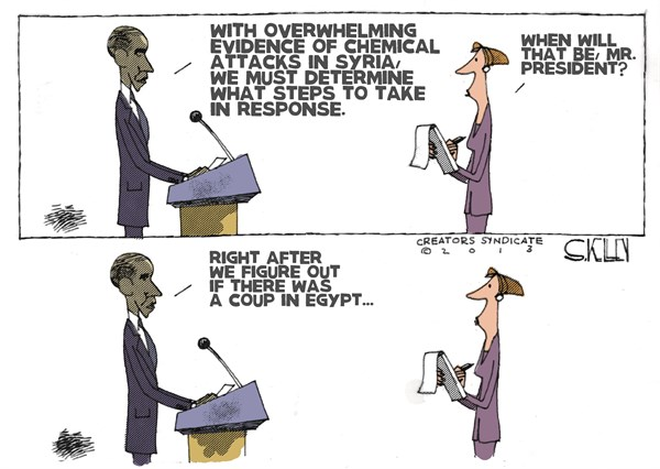Figure Things Out © Steve kelley,The New Orleans Times, Picayune,egypt,obama,failing,corrupt,violence,coup,egypt-failing,syria-chemical-weapons
