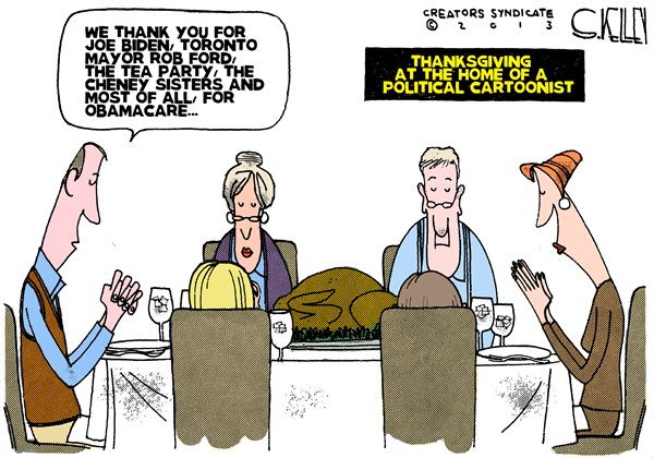 Political Cartoonist Thanksgiving © Steve kelley,The New Orleans Times, Picayune,,thanksgiving-2013