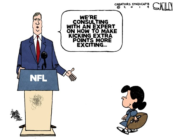 NFL Kicking © Steve kelley,The New Orleans Times, Picayune,nfl,kicking,exciting