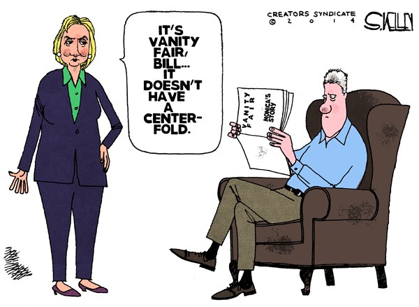 Monicas Story © Steve kelley,The New Orleans Times, Picayune,vanity fair,article,clinton,monica-lewinsky
