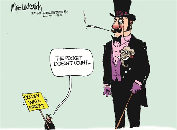 Occupy Wall Street © Mike Luckovich,The Atlanta Journal Constitution,occupy,Wall Street,pocket,republican,count