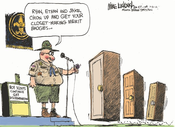 116174 600 Closet Making Merit Badge cartoons
