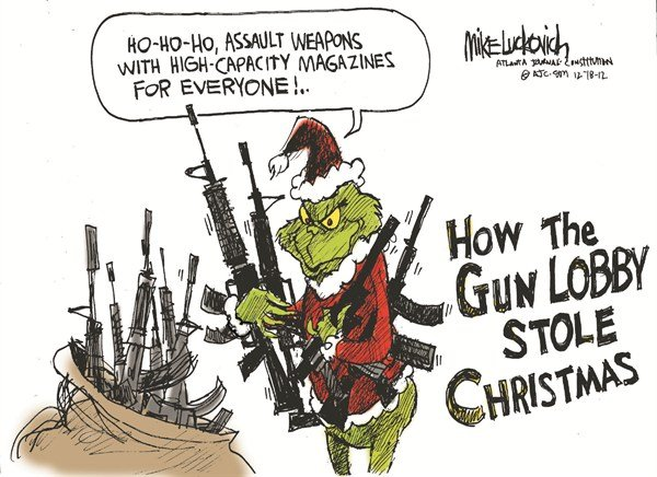 124240 600 Gun Lobby Stole Christmas cartoons