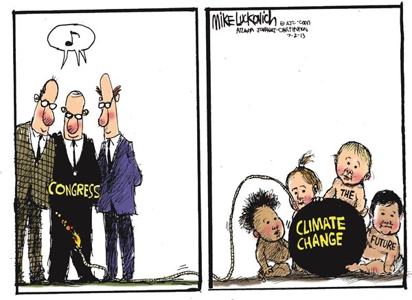 Climate Change © Mike Luckovich,The Atlanta Journal Constitution,climate change,future,congress