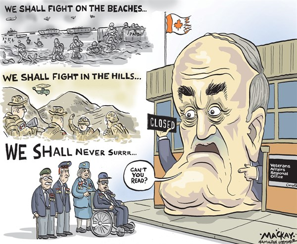 We Shall Fight © Grame MacKay,The Hamilton Spectator, Ontario Canada,fight,soldiers,vets