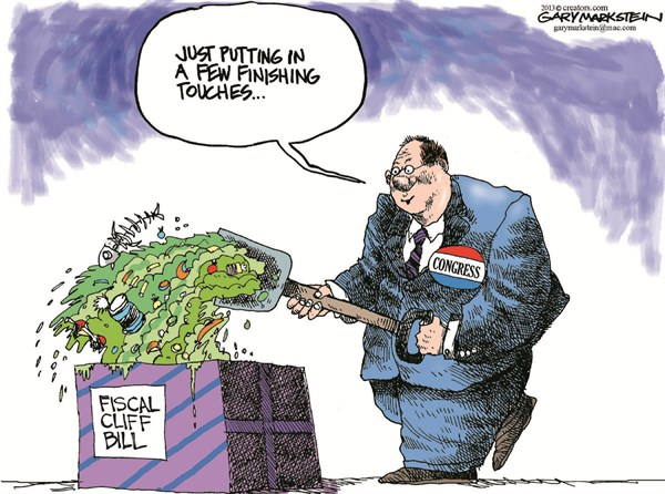 124893 600 Fiscal Cliff Bill cartoons