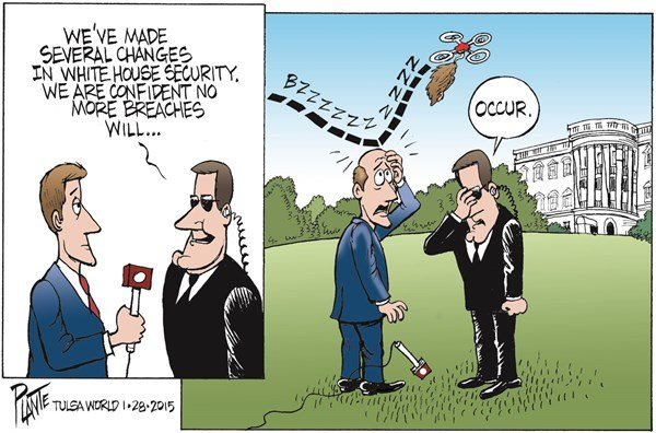 White House Security Breaches © Bruce Plante,Tulsa World,white house,security,breach,drones,secret service