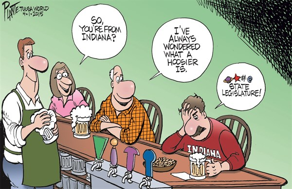 What Is A Hoosier © Bruce Plante,Tulsa World,indiana,hoosier,freedom,gay,gay marriage,freedom act,indiana-freedom-act