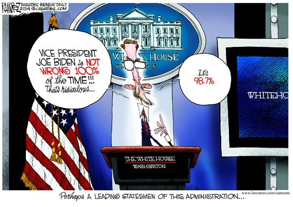 Leading Statesman of the Administration © Michael Ramirez,Investors Business Daily,joe biden,statesman,administration,wrong