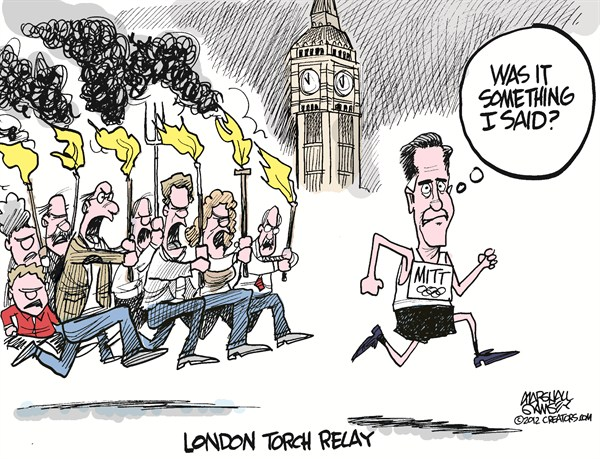116004 600 London Torch Relay cartoons