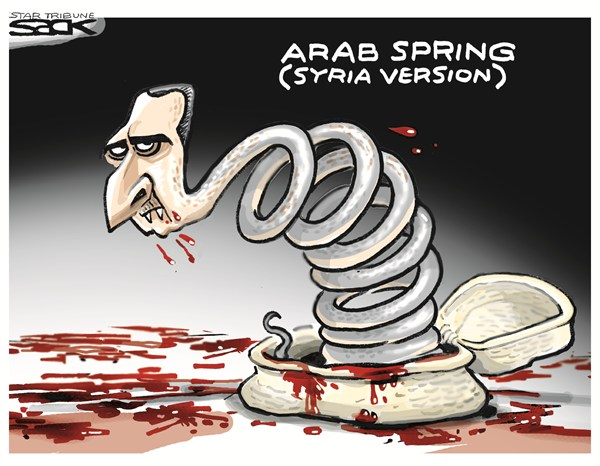 Steve Sack - The Minneapolis Star Tribune - Arab Spring - English - Syria,death,Arab Spring