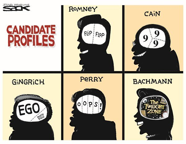 Candidate Profiles © Steve Sack,The Minneapolis Star Tribune,candidates,GOP,profiles,flip flop
