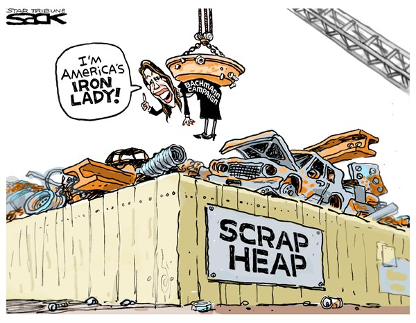 Steve Sack - The Minneapolis Star Tribune - Americas Iron Lady - English -