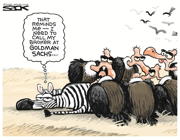 Steve Sack - The Minneapolis Star Tribune - Goldman Sachs - English - animals,call,Goldman Sachs