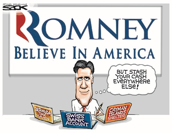Steve Sack - The Minneapolis Star Tribune - Stash Your Cash - English - romney,offshore,investments,bank,cash