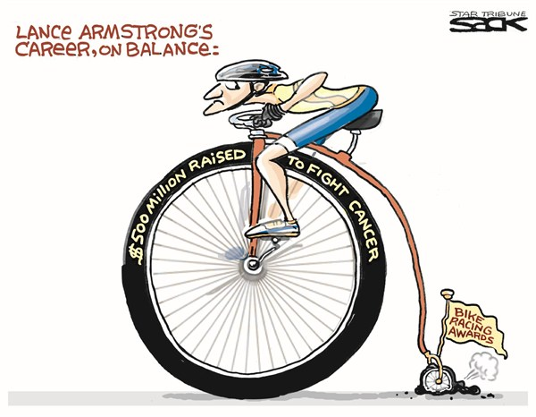 Steve Sack - The Minneapolis Star Tribune - Lance Armstrongs Career - English - lance armstrong,banned,cycling,doping,tour,france,cancer,fight,armstrong-banned